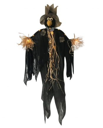 Raven Scarecrow With LED Lighting