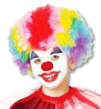 Regenbogen Clown Perücke Kinder