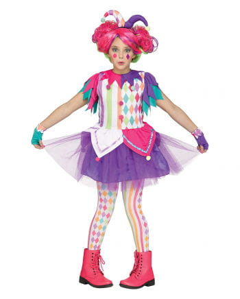 Colorful Harlequin Children Costume