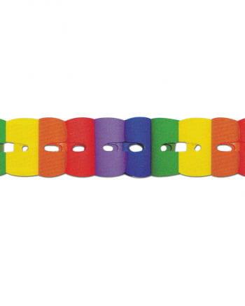 Regenbogen Papier Girlande 3m