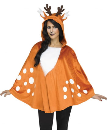 Deer hooded poncho