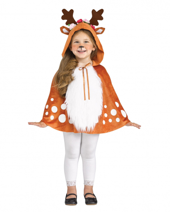 Little Deer Costume Poncho With Antlers