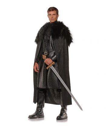 Ritter Umhang mit Kunstfell schwarz