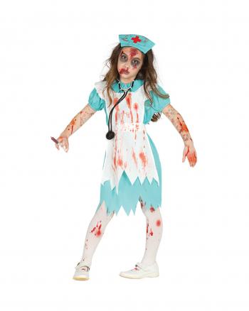 Blutige Zombie Krankenschwester Kinder Kostüm