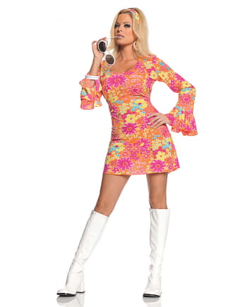 Floral Hippie Mini Dress Costume