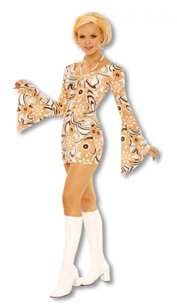 60er Jahre Retro Kleid Small