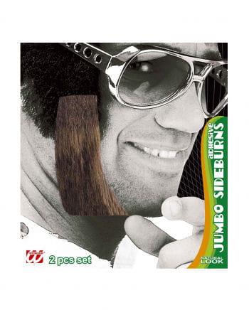 Giant Elvis sideburns light brown