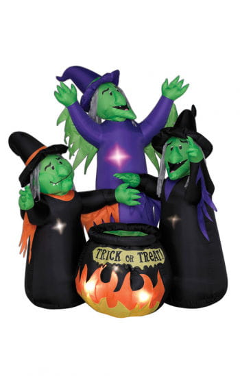 Inflatable Giant Witches with Cauldron