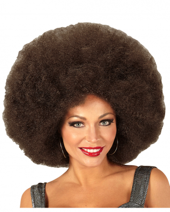 XL Afro Perücke Braun