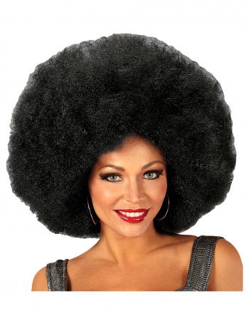 XL Afro Perücke Schwarz