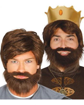 König Perücke mit Bart