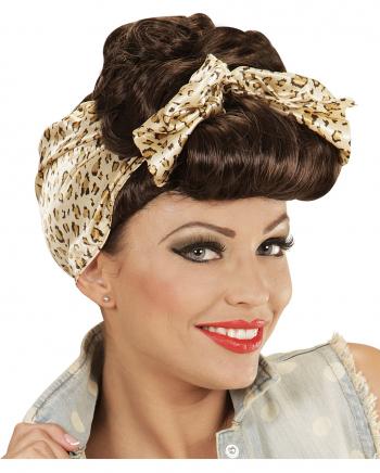 50´s Rockabilly Girl Perücke mit Haarband