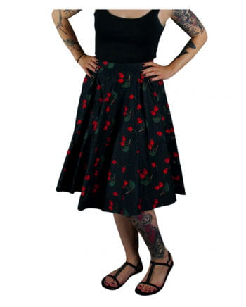Rockabilly Skirt Cherry Skull