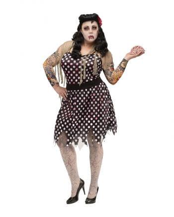 Rockabella Zombie Kostüm XL