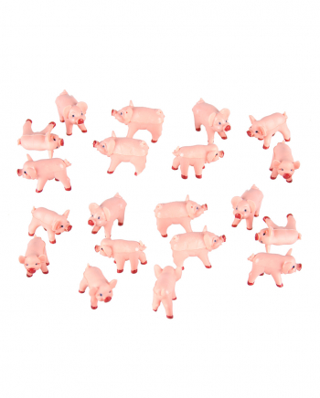 Pink Lucky Pig 100 Pieces 2 X 1 Cm