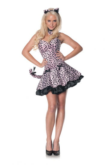 Rosa Leoparden Mini-Kleid