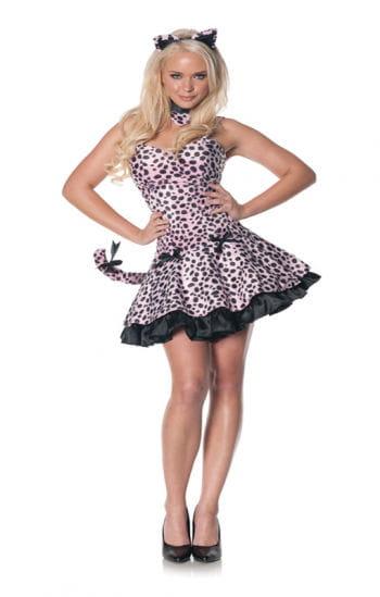 Rosa Leoparden Mini-Kleid XL