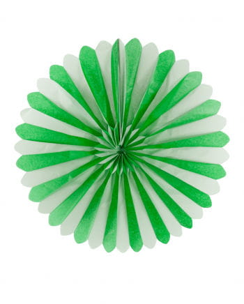Rosette pockets green / white 60cm
