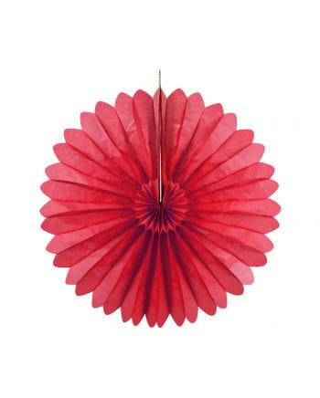 Rosette fan red 35 cm