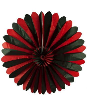 Schwarz-Roter Rosettenfächer 90cm