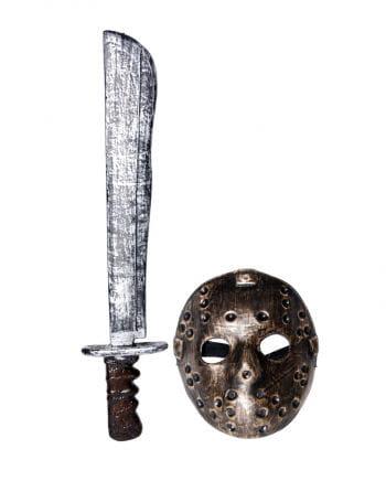 Antike Hockey Maske mit Machete