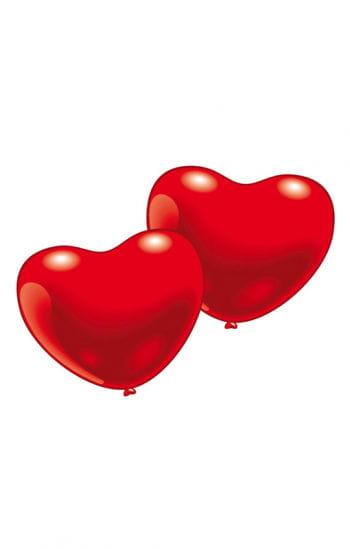 Rote Herzluftballons 25 St