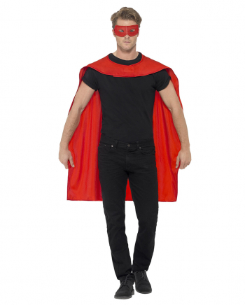 Red Cape With Eye Mask