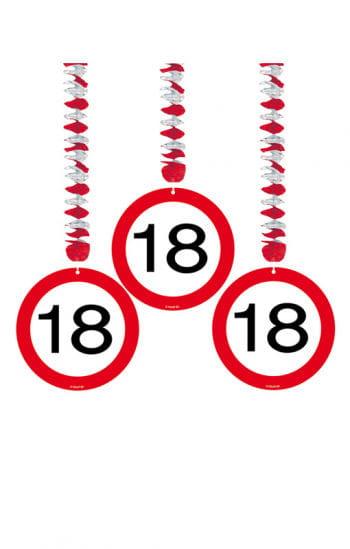 Rotorspirale Verkehrsschild Achtzehn