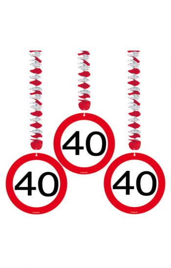 Rotorspirale Verkehrsschild Vierzig