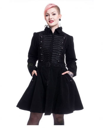 Schwarzer Gothic Mantel Rozalina