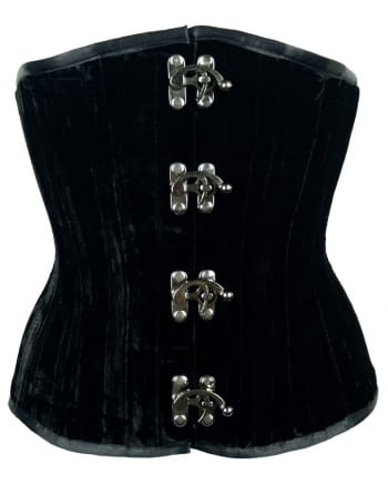 Velvet Corset With Hook Black