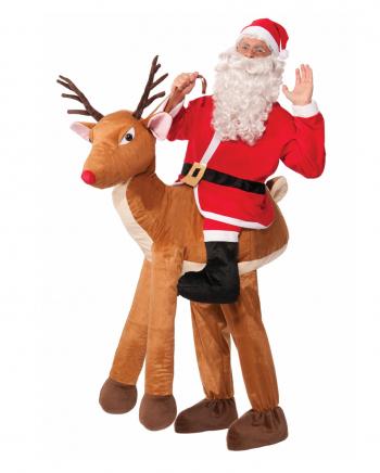 Nikolaus auf Rentier Huckepack Kostüm