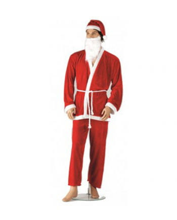 Santa Claus Kostüm mit Bart
