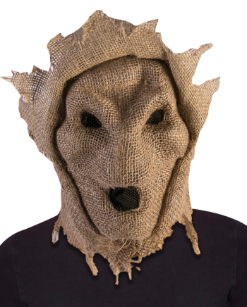 Scarecrow Mask Made Of Sackcloth