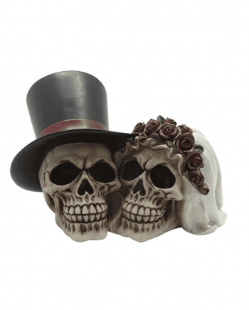 Wedding Couple Skull Decoration