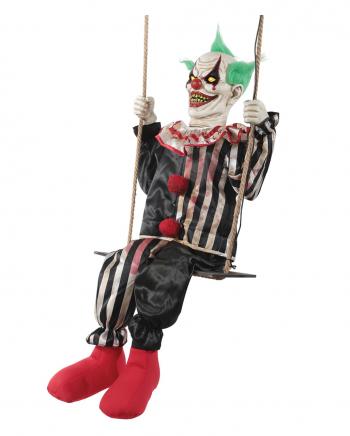 Schaukelnder Horror Clown Chuckles Halloween Animatronic