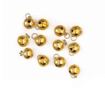 Stitch-On Round Bells 12 mm 12PCS