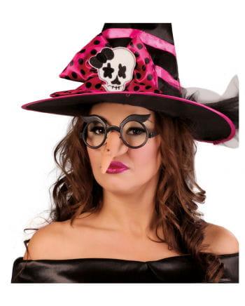 Scherzbrille mit krummer Hexennase