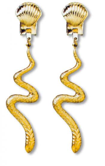 Schlangen Ohrringe gold