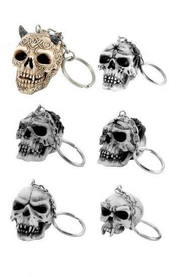 Schlüssel Anhänger keltischer Schädel
