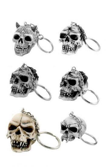 Schlüsselanhänger Totenschädel