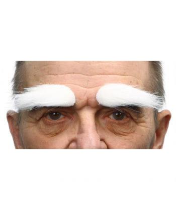 Schmale Weiße Augenbrauen