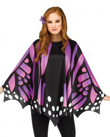Schmetterlings Flügel Poncho Lila