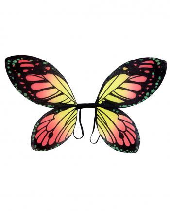 Schmetterlingsflügel Schwarz/Orange für Kinder