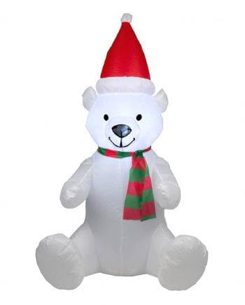 Aufblasbarer Weihnachtsbär mit LED 120cm