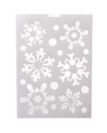 Schneeflocken Schablone für Sprühschnee