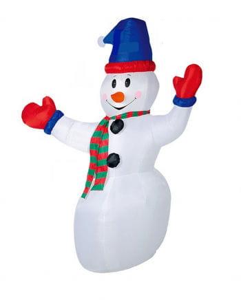 Aufblasbarer Schneemann mit LED 240cm