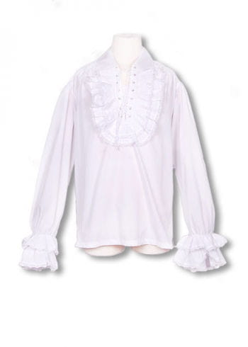 Baroque white ruffled shirt M