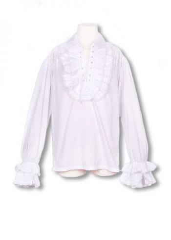 Baroque white ruffled shirt S