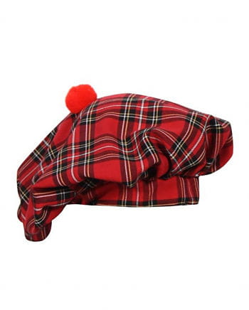 Scots Cap Red Checkered